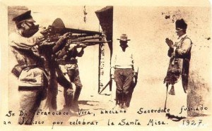 """No, it didn't quite happen like this in Ovamboland, this picture was taken in Mexico. But the circumstances are similar. If the people who died at Epinga had not gone to Mass, they might still be alive today. For the Mexican story, read """"The power and the Glory"""" by Graham Greene."""
