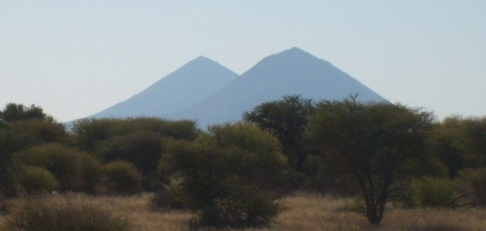 Conical hills on the way to Otjiwarongo