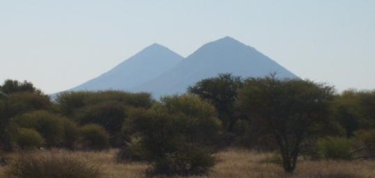 Conical hills on the way to Otjiwarongo