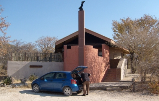 """Our """"family chalet"""" at Halali camp in the Etosha National Park, Namibia"""