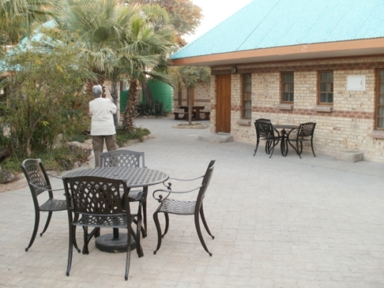 Accommodation at the Kang Ultrastop on the Trans-Kalahari Highway in central Botswana