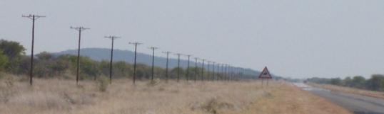 The changing landscape -- a disgth that will soon disappear -- landline telephone poles