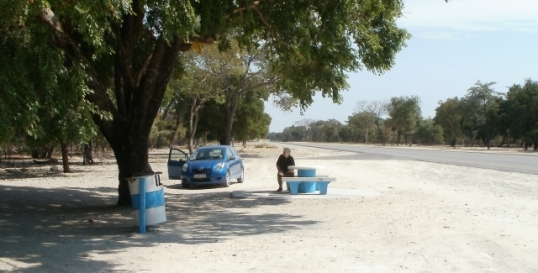 Roadside sitplekkie in northern Namibia - much cleaner than their South African (or Botswana) counterparts