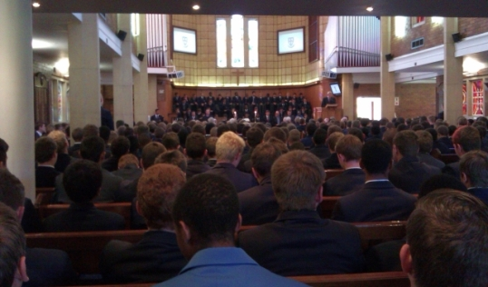 Jubilee service in St Stithians College chapel, 7 June 2013