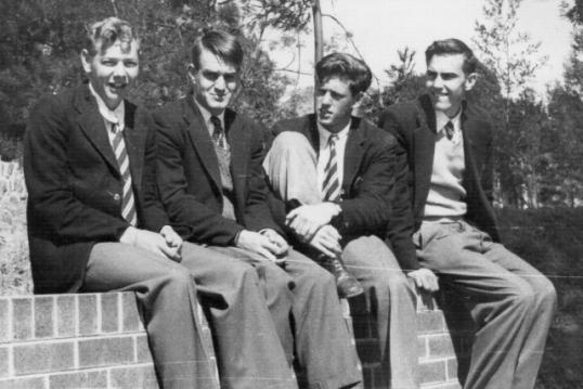 Adrian Callard, John Bolton, David Curtis, Stephen Hayes: St Stithians, 1958