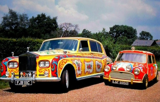 Cars belonging to septuagenarians (the Beatles)