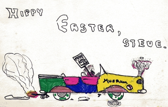 Easter card from the Winter children, 1970