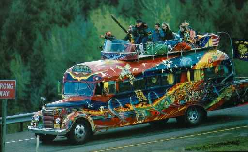 Bus used by Ken Kesey and the Merry Pranksters