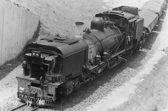 Train on the Port Shepstone-Hardin line, 10 December 1980