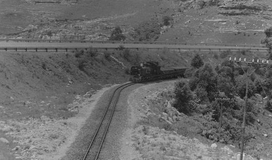 Train on the Port Shepstone-Harding line, 10 December 1980