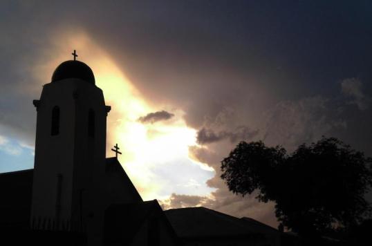 St Nicholas Church, Brixton, Johannesburg - clouds at Vespers