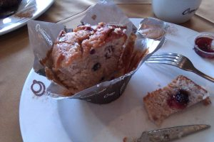 Blueberry muffin from Cappuchino's at The Grove.