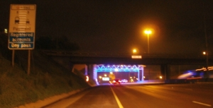 N1 highway with e-toll gantry