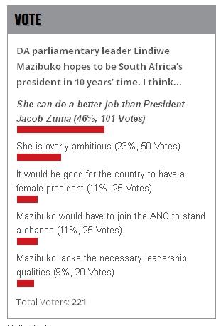 City Press poll, 23 Jan 2014
