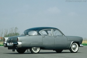 A 1952 Volvo: only one was ever built, but perhaps in an alternative universie it might have gone into production, as featured in the book