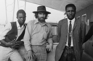 Gideon Iileka, Steve Hayes, Thomas Ruhozo, at Kamanjab, Namibia, 5 October 1971