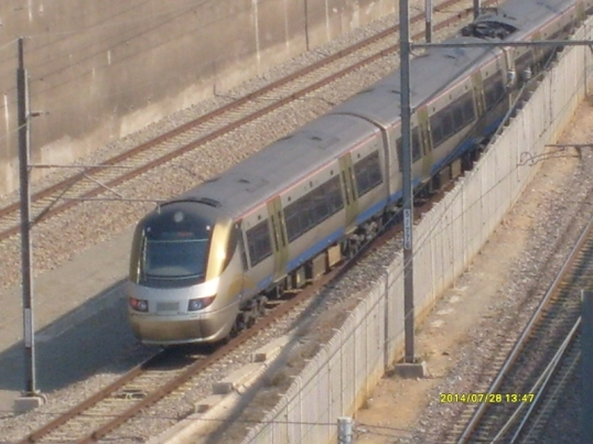 Gautrain at Hatfield station, Pretoria, July 2014