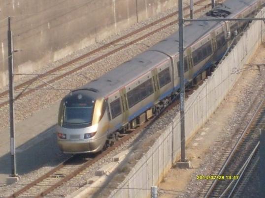 Gautrain at Hatfield station, Pretoria, July 2014