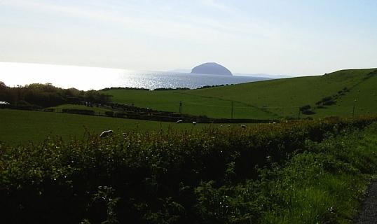Ailsa Craig, off the coast of Ayrshire, Scotland, near Girvan. 10 May 2005
