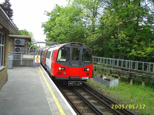 At Colindale Underground station on the Northern Line.