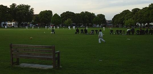Cricket on the green at Twickenham. 17 May 2005