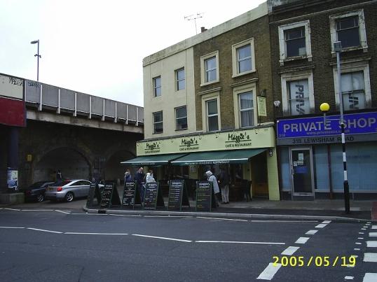 Maggies Cafe in Lewisham, where we had breakfast.