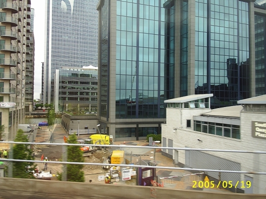 Some of the changes in London -- the docklands had become a business distict