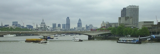 City of London skyline, from Hungerford footbriddge