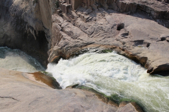 Augrabies Falls -- the whole flow of the Orange River sdqueezed into one narrow channel
