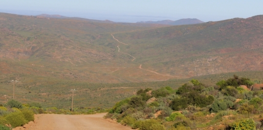The road to Spoegrivier, Namaqualand. 20 Aug 2015