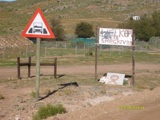 Welcome to Spoegrivier (Spit River), Namaqualand