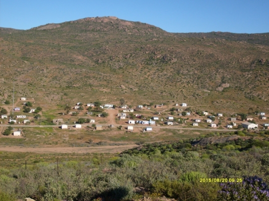 The village of Spoegrivier (Spit River), Namaqualand