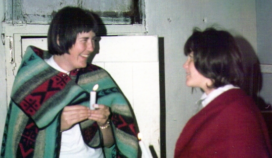 Pam Trevelyan (nee Taylor) and Isobel Beukes (nee Dick).at Holy Rood Mission on the Swaziland border, 26 September 1965