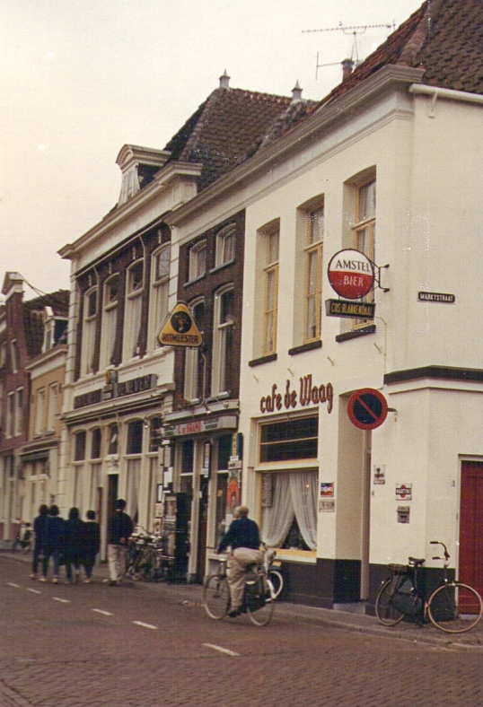Cafe de Waag in Alkmaar. 27 September 1966